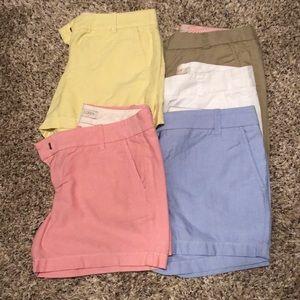 5 pairs of J. crew shorts